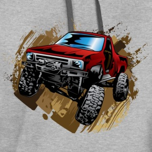Red Rock Crawling Off-Road Truck Shirt - Contrast Hoodie