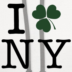 I Clover New York ( I Clover NY) Vector T-Shirts - Contrast Hoodie