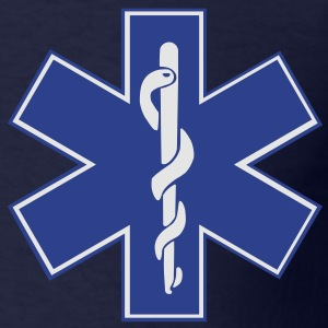 Star of Life / EMT Symbol Zip Hoodies/Jackets - Men's T-Shirt