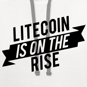 Litecoin is on the Rise! T-Shirts - Contrast Hoodie