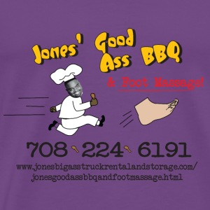 Jones Good Ass BBQ and Foot Massage logo Hoodies - Men's Premium T-Shirt