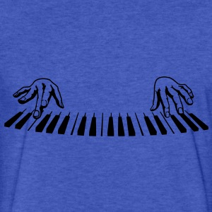 piano finger Sweatshirts - Fitted Cotton/Poly T-Shirt by Next Level