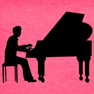 piano player Tanks - Women's Vintage Sport T-Shirt