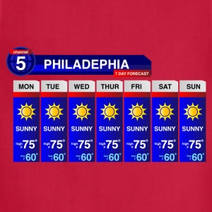 Philadelphia Weather T-Shirts - Adjustable Apron