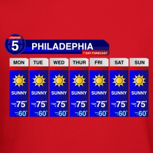 Philadelphia Weather T-Shirts - Crewneck Sweatshirt