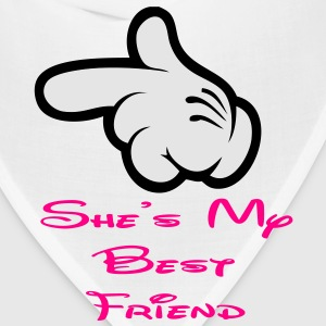 she is my best friend Women's T-Shirts - Bandana