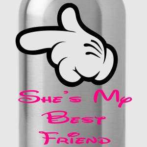 she is my best friend Women's T-Shirts - Water Bottle