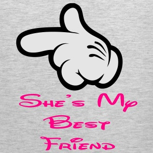 she is my best friend Women's T-Shirts - Men's Premium Tank