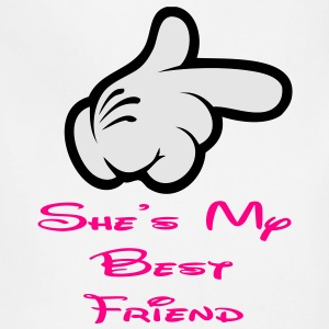 she is my best friend Women's T-Shirts - Adjustable Apron