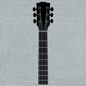 guitar head Bottles & Mugs - Unisex Tri-Blend T-Shirt by American Apparel