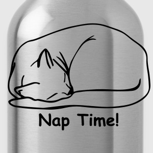 Nap Time 2 Ladies T-shirt Black - Water Bottle