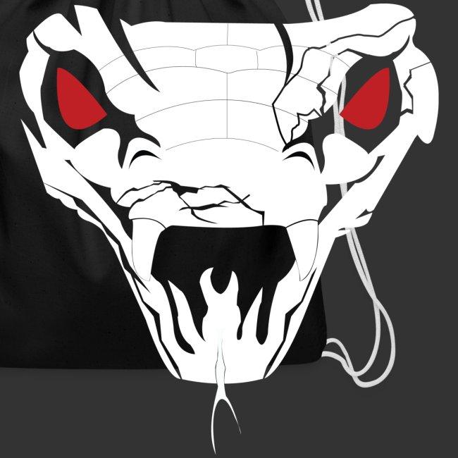 """Woman's Hooded Sweatshirt """"Snake Skull"""" (Digital Print)"""
