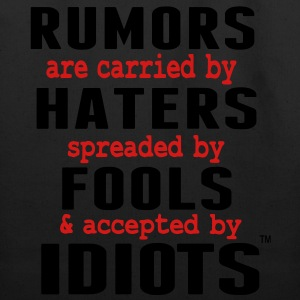 RUMORS ARE CARRIED BY HATERS T-Shirts - Eco-Friendly Cotton Tote