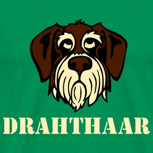 drahthaar_face_3c Hoodies - Men's Premium T-Shirt