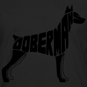 Doberman Dog Art Hoodies - Men's Premium Long Sleeve T-Shirt
