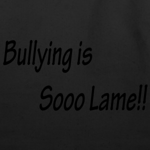 Bullying is Sooo Lame!! Kids Black T-shirt - Eco-Friendly Cotton Tote