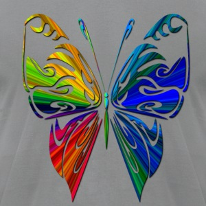 Rainbow Butterfly - Men's T-Shirt by American Apparel