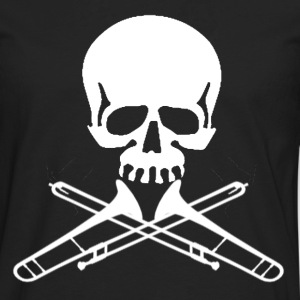 Skull with Trombone Crossbones - Men's Premium Long Sleeve T-Shirt
