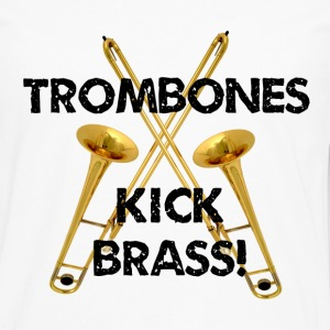 Trombones Kick Brass - Men's Premium Long Sleeve T-Shirt