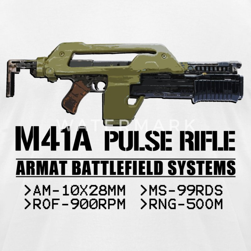 M41A Pulse Rifle - Men's T-Shirt by American Apparel