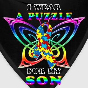 I Wear A Puzzle for my Son Women's T-Shirts - Bandana