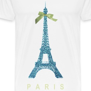 Blue Paris Eiffel Tower with bow Accessories - Men's Premium T-Shirt