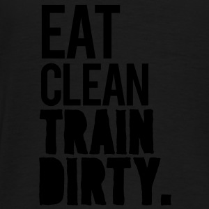 Eat Clean Gym Motivation Hoodies - Men's Premium T-Shirt