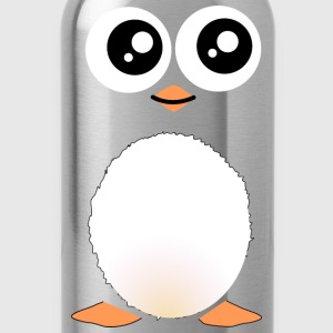 Cute Black Penguin T-Shirts - Water Bottle