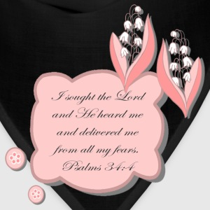 Psalm 34 womans  tshirt - Bandana