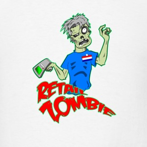 Retail Zombie Travel Mug - Men's T-Shirt