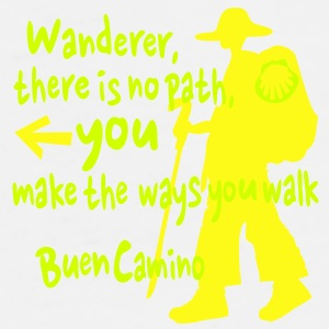 You make the ways you walk Buen Camino Water Bottl - Men's Premium T-Shirt