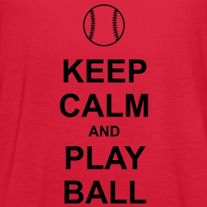 Keep Calm and Play Ball Women's T-Shirts - Women's Flowy Tank Top by Bella