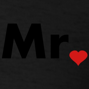 Mr with heart dot - part of Mr and Mrs set Polo Shirts - Men's T-Shirt