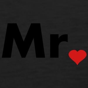 Mr with heart dot - part of Mr and Mrs set Polo Shirts - Men's Premium Tank