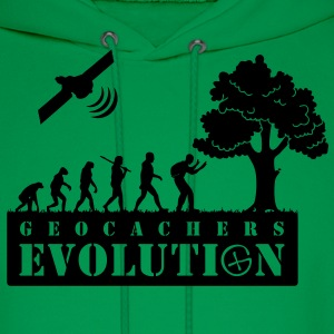 geocachers evolution (geocaching) T-Shirts - Men's Hoodie