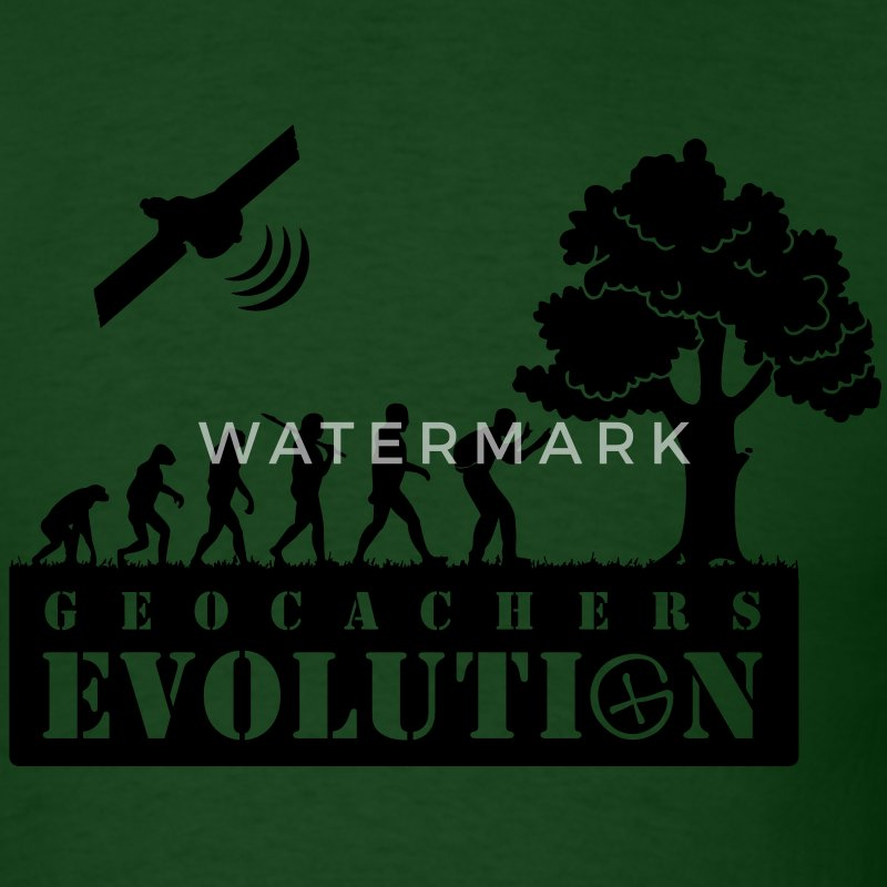 geocachers evolution (geocaching) T-Shirts - Men's T-Shirt