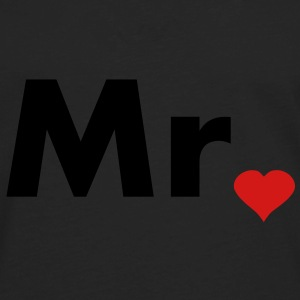 Mr with heart dot - part of Mr and Mrs set Caps - Men's Premium Long Sleeve T-Shirt