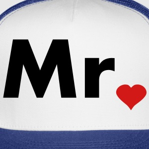 Mr with heart dot - part of Mr and Mrs set Hoodies - Trucker Cap