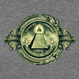 All seeing eye, pyramid, dollar, freemason, god T-Shirts - Women's Wideneck Sweatshirt