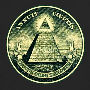 All seeing eye, pyramid, dollar, freemason, god Women's T-Shirts - Men's Premium Long Sleeve T-Shirt