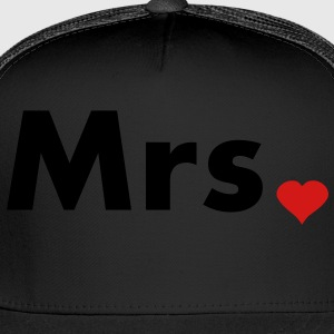 Mrs with heart dot - part of Mr and Mrs set Women's T-Shirts - Trucker Cap