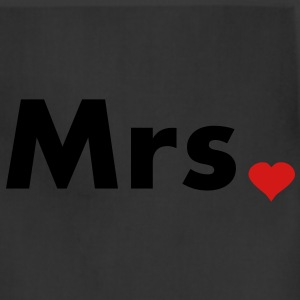Mrs with heart dot - part of Mr and Mrs set Women's T-Shirts - Adjustable Apron