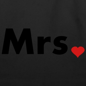 Mrs with heart dot - part of Mr and Mrs set Women's T-Shirts - Eco-Friendly Cotton Tote