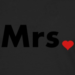 Mrs with heart dot - part of Mr and Mrs set Women's T-Shirts - Men's Premium Long Sleeve T-Shirt