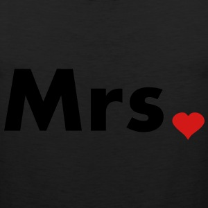 Mrs with heart dot - part of Mr and Mrs set Women's T-Shirts - Men's Premium Tank
