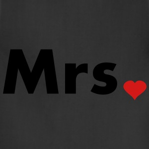 Mrs with heart dot - part of Mr and Mrs set Hoodies - Adjustable Apron
