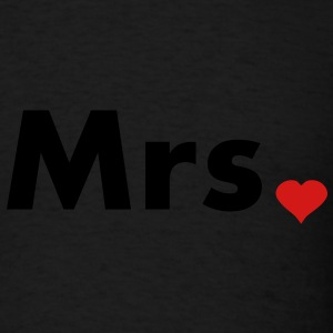 Mrs with heart dot - part of Mr and Mrs set Hoodies - Men's T-Shirt