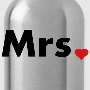 Mrs with heart dot - part of Mr and Mrs set Hoodies - Water Bottle