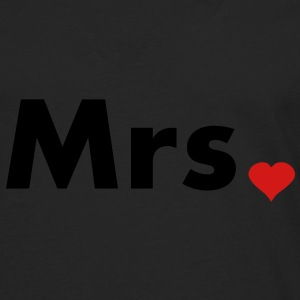 Mrs with heart dot - part of Mr and Mrs set Hoodies - Men's Premium Long Sleeve T-Shirt