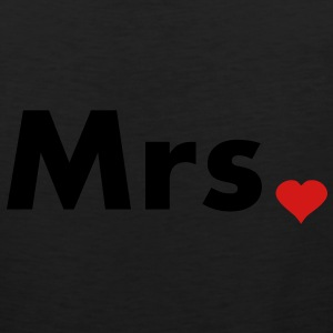 Mrs with heart dot - part of Mr and Mrs set Hoodies - Men's Premium Tank